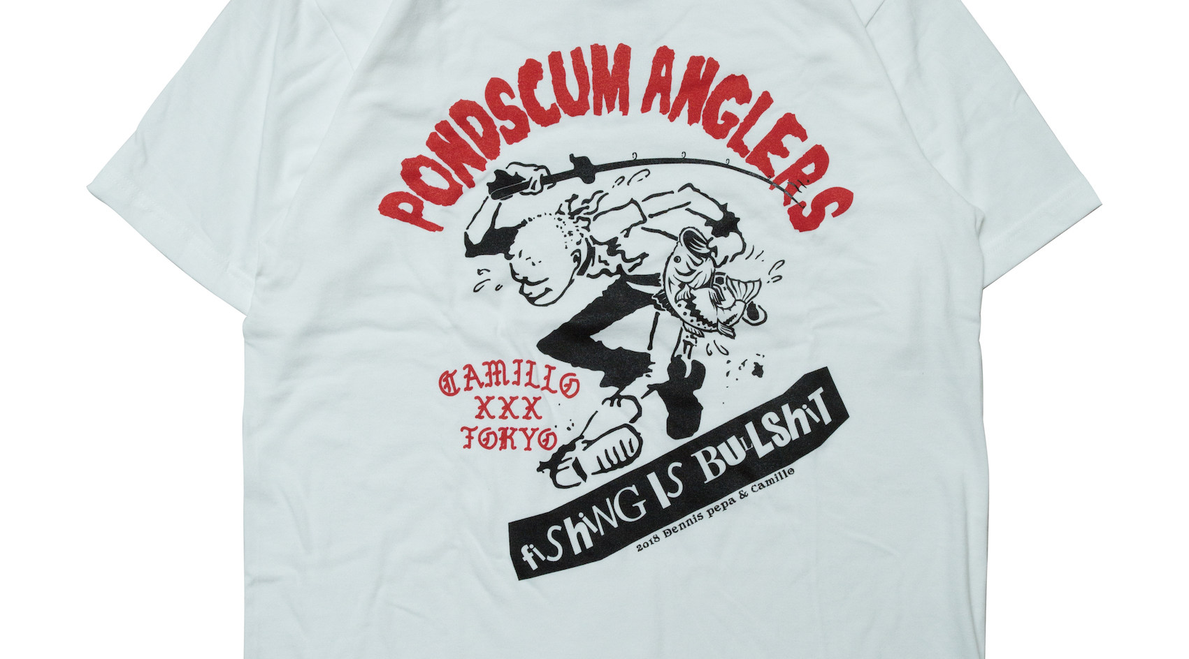 CAMILLO x PONDSCUM ANGLER TEE <WHT>