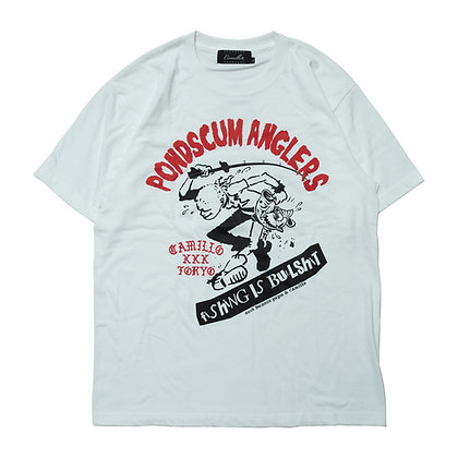CAMILLO X POND SCUM ANGLERS collaboration TEE <WHITE>