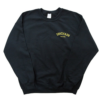 UNCHAIN factory 2018 WOLF logo crewneck sweater  <black>