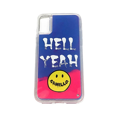 CAMILLO HELLYEAH NEON SAND iphone case ( PINK x NAVY)