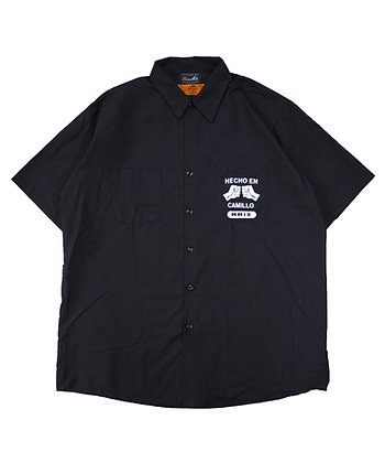 HECHO EN CAMILLO WORK SHIRTS < BLACK>