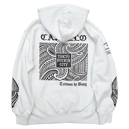 "Bong x Camillo Collaboration ""TOKYO FUCKIN CITY""  Pullover Hoodie <WHITE>"