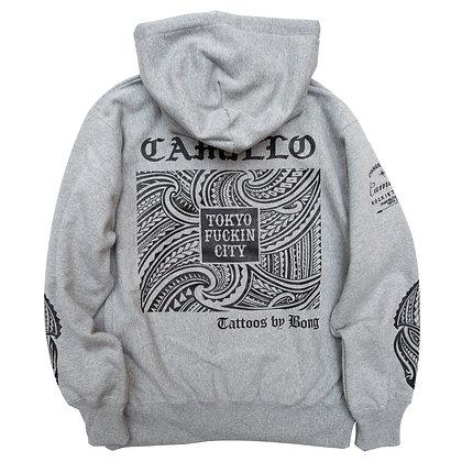 "Bong x Camillo Collaboration ""TOKYO FUCKIN CITY""  Pullover Hoodie < GREY >"
