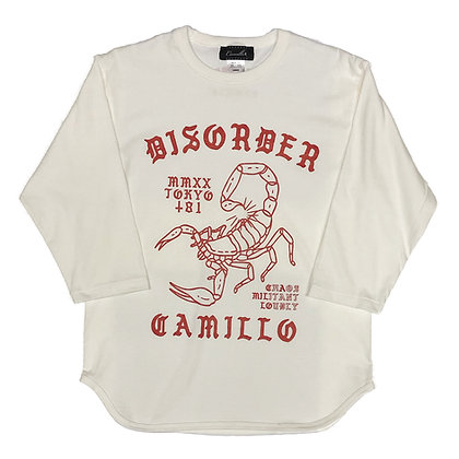 CAMILLO DISORDER BASEBALL 3/4 TEE (NATURAL)