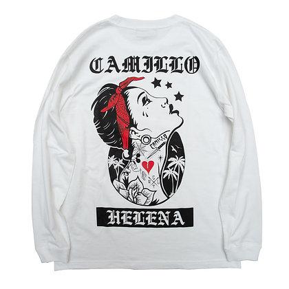 CAMILLO HELENA BIG SILHOUETTE  L/S TEE  ( WHITE )