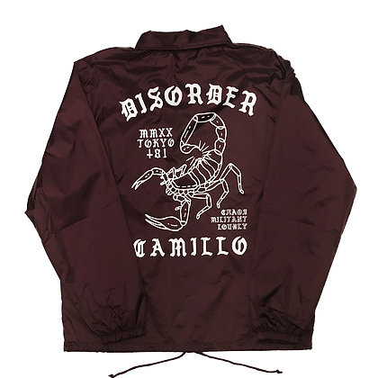 CAMILLO DISORDER COACH JACKET (BURGUNDY)