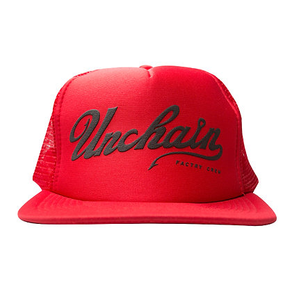 UNCHAIN factory Good day? mesh cap <red>