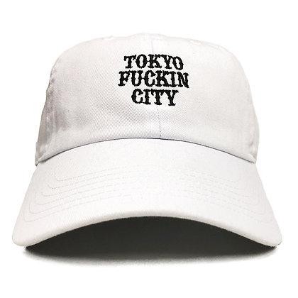 CAMILLO TOKYO FUCKIN CITY DAD TWILL CAP <WHITE >