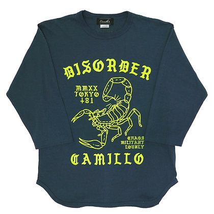 CAMILLO DISORDER BASEBALL 3/4 TEE (DENIM)
