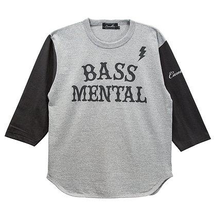 CAMILLO BASS MENTAL 3/4 BASEBALL TEE <H.GREY x SUMI KURO>