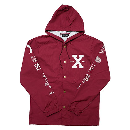 CAMILLO 10th ANNIVERSARY HOODED COACH JACKT <BURGUNDY>