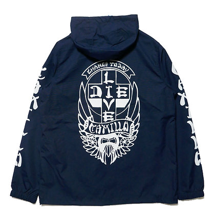 CAMILLO LIVE OR DIE ANORACK JACKT (NAVY)
