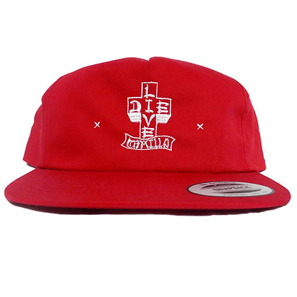 CAMILLO LIVE OR DIE CAP  ( RED)