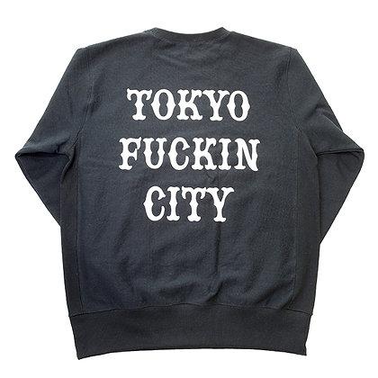 CAMILLO TOKYO FUCKIN CITY Crew neck Sweat <BLACK>