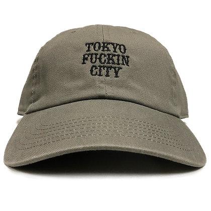 CAMILLO TOKYO FUCKIN CITY DAD TWILL CAP <KHAKI >