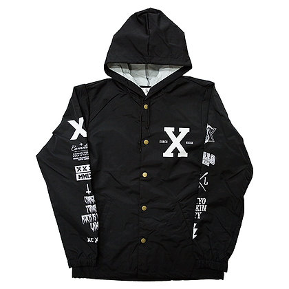 CAMILLO 10th ANNIVERSARY HOODED COACH JACKT <BLACK>