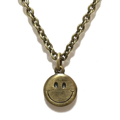 REVERSIBLE SMILE NECKLACE <BRASS>