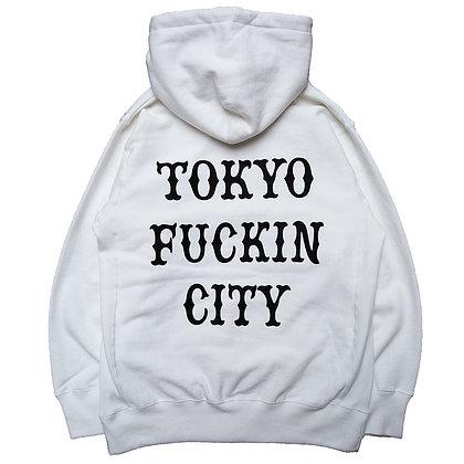 CAMILLO TOKYO FUCKIN CITY Pullover Hoodie <WHITE>