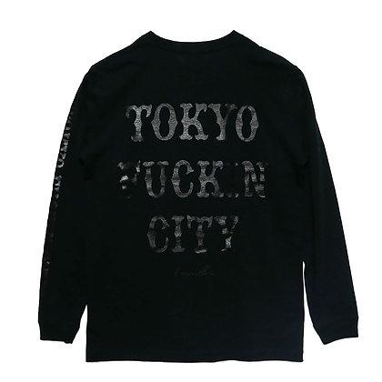 CAMILLO TOKYO FUCKIN CITY L/S TEE  ( BLACKxBLACK) NEW COLOR