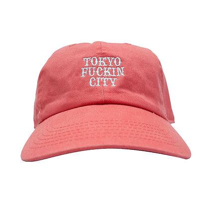 CAMILLO TOKYO FUCKIN CITY DAD TWILL CAP <coral pink >