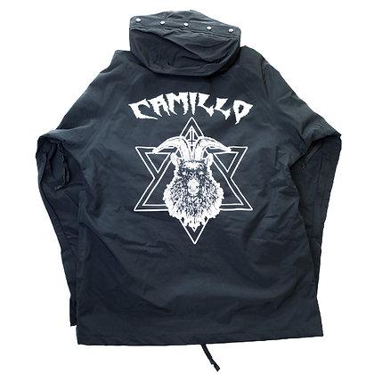 CAMILLO DEVIL Nylon bonded Jacket <BLACK>