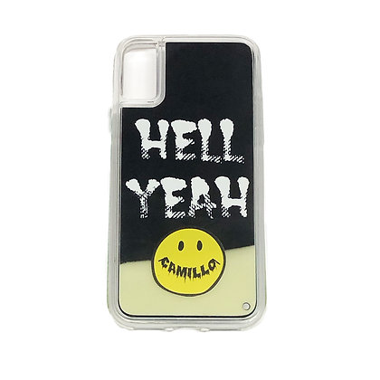 CAMILLO HELLYEAH NEON SAND iphone case ( BLACK x YELLOW)