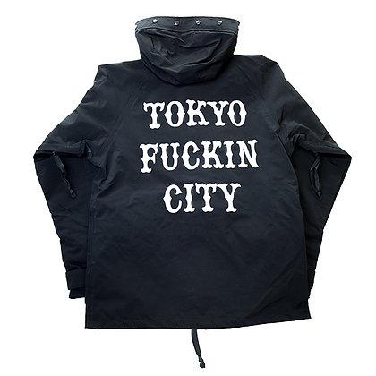 CAMILLO TOKYO FUCKIN CITY Nylon bonded Jacket <BLACK>