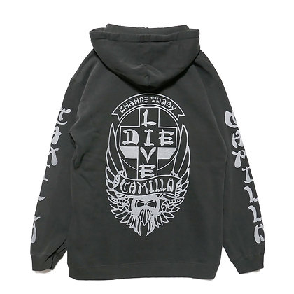 CAMILLO LIVE OR DIE P/O HOODIE  ( PEPPER )
