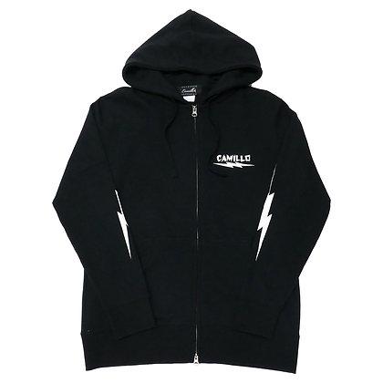 CAMILLO X BONE ZIP HOODIE ( BLACK )