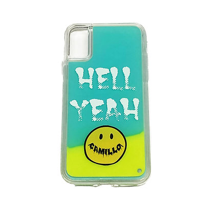 CAMILLO HELLYEAH NEON SAND iphone case ( YELLOW x GREEN)