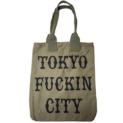 CAMILLO TOKYO FUCKIN CITY TOTEBAG <KHAKI>