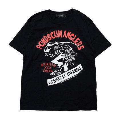 CAMILLO X POND SCUM ANGLERS collaboration TEE <BLACK>