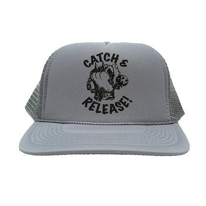 CAMILLO X POND SCUM ANGLERS collaboration MESH CAP <GREY>
