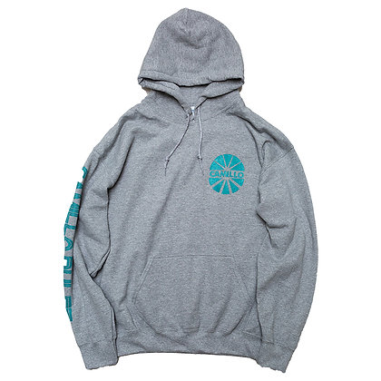 CAMILLO BE QUIET AND DRIVE P/O HOODIE < GRAY >