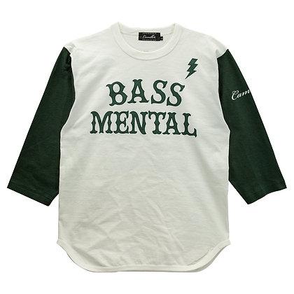 CAMILLO BASS MENTAL 3/4 BASEBALL TEE <NATURAL X GREEN>