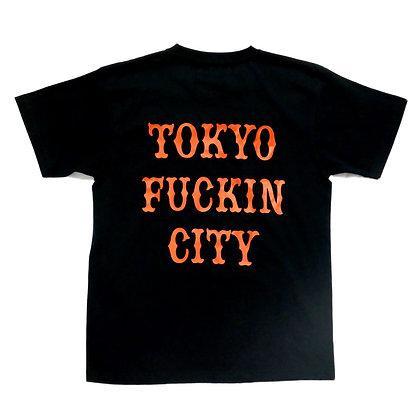 CAMILLO TOKYO FUCKIN CITY TEE <BLK x ORG>  WEB LIMITED