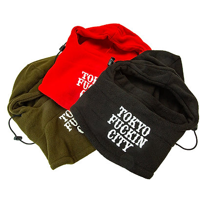CAMILLO TOKYO FUCKIN CITY NECK WARMERS TRAVELIN HOOD THINGY ( 3 color )