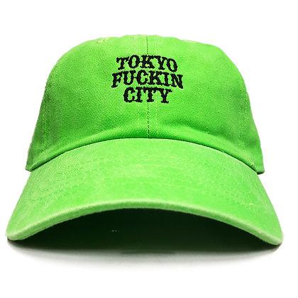CAMILLO TOKYO FUCKIN CITY DAD TWILL CAP <NEON GREEN >