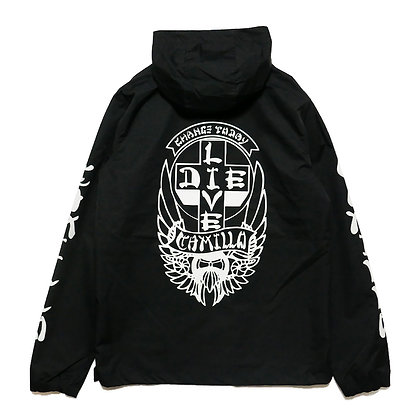 CAMILLO LIVE OR DIE ANORACK JACKT (BLACK)