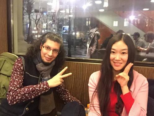Yutong Ji, Sassan bahman Schottentor McDonald December 2016 First meet for The Treaty performance