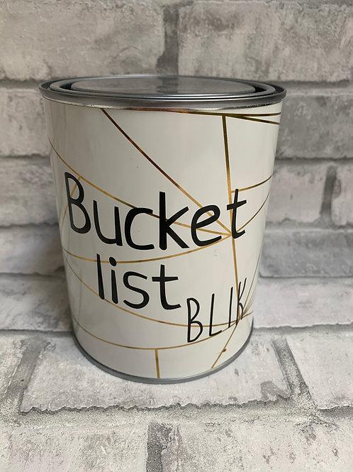 Bucket list blik
