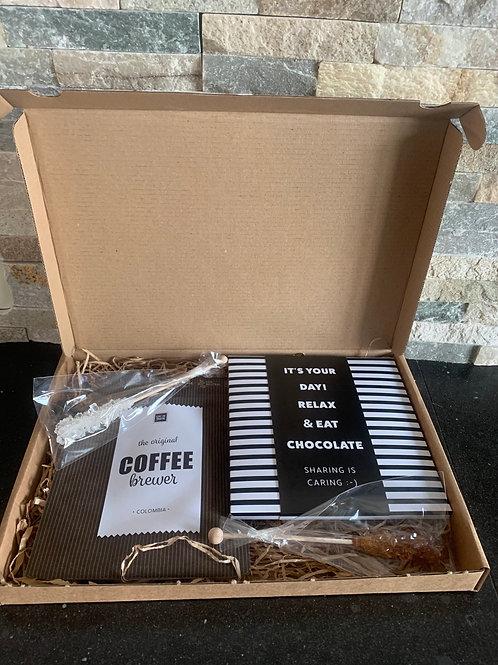 Coffee brievenbus pakket L wens