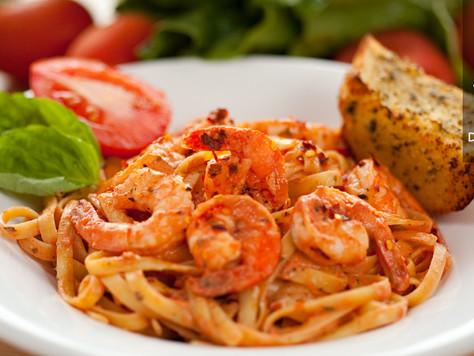 Shrimp tagliatelle 番茄鮮蝦義大利麵