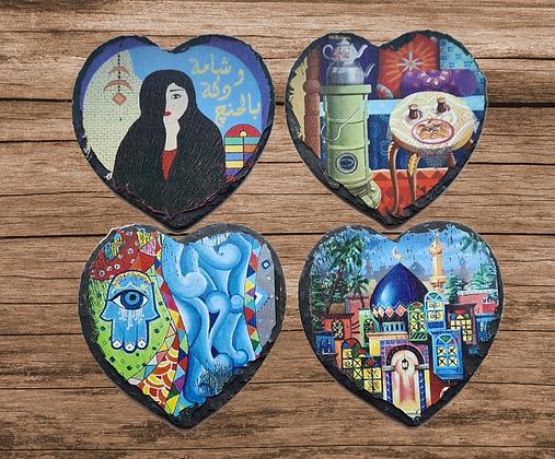 Baghdadiat Natural Slate Coasters