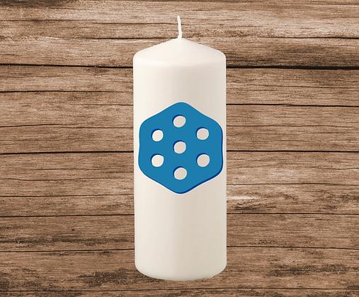 7 Eyes Design Candle