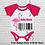 Thumbnail: Flamingo Custom Baby Baseball Bodysuit