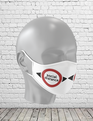 Social Distance Washable Face Mask