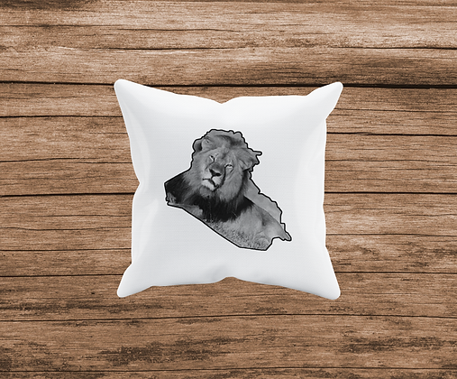 Lions of Iraq Cushion Cover