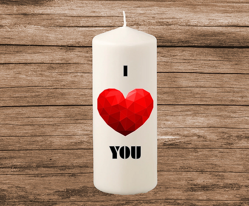 I Love You - Design Candle