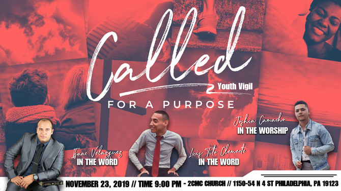 """2CMC Youth Vigil """"Call for a Purpose"""""""